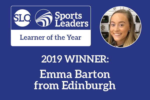 2019 Learner of the Year Award winner Emma Barton
